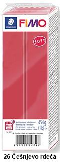 Fimo soft 450g. 26 Češnjevo rdeča (8021-26)