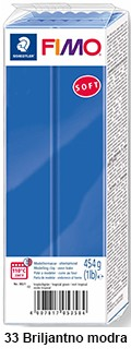 Fimo soft 450g. 33 Briljantno modra (8021-33)