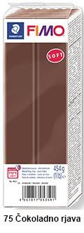 Fimo soft 450g. 75 Čokoladno rjava (8021-75)