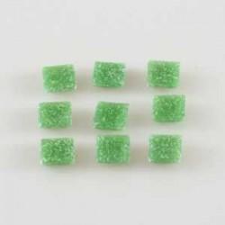 Steklen mozaik 10 x 10mm, Zelena 125g. ca 180 kosov