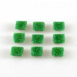 Steklen mozaik 10 x 10mm, Temno zelena 125g. ca 180 kosov