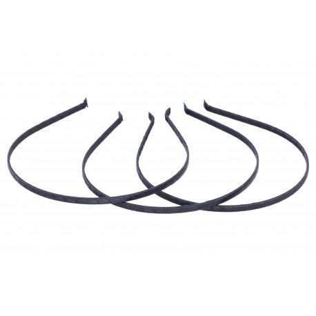 Obroč za lase, Črna 5 x 35cm, 3 kosi