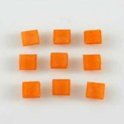 Steklen mozaik 10 x 10mm, Oranžna 125g. ca 180 kosov