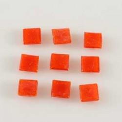 Steklen mozaik 10 x 10mm, Rdeča 125g. ca 180 kosov