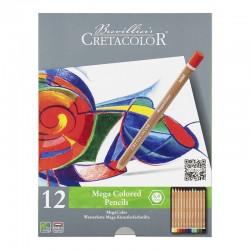 Cretacolor Megacolor barvni svinčniki set 12
