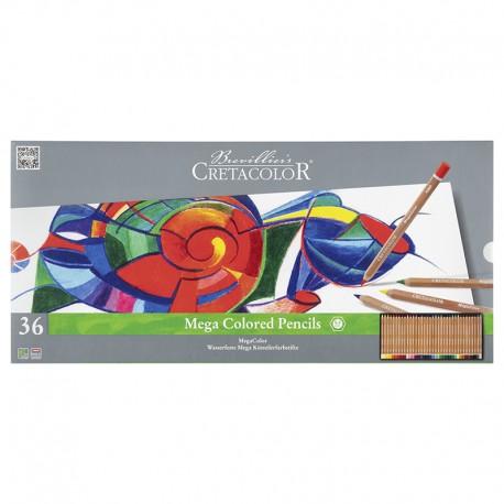 Cretacolor Megacolor barvni svinčniki set 36