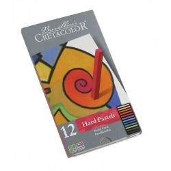 Cretacolor Carre pasteli v kovinski embalaži set 12