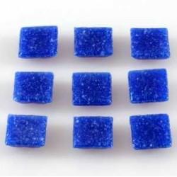 Steklen mozaik 20 x 20mm, temno modra, 44 kos