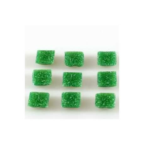 Steklen mozaik 20 x 20mm, temno zelena 44 kos