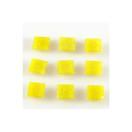 Steklen mozaik 20 x 20mm, rumena 44 kos
