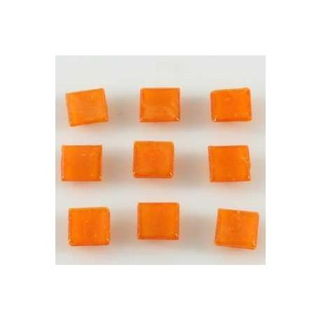 Steklen mozaik 20 x 20mm, oranžna 44 kos