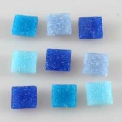 Steklen mozaik 20 x 20mm, mešane modre 44 kos
