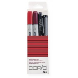 Copic Doodle Pack red 4 kosi