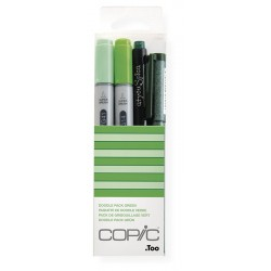 Copic Doodle Pack Green 4 kosi