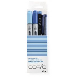 Copic Doodle Pack Blue 4 kosi