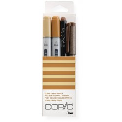 Copic Doodle Pack Brown 4 kosi