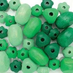 mešane zelene 10-19mm 30 kos
