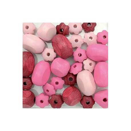 mešane roza 10-19mm, 30kos