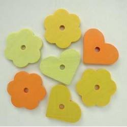 rože-srčki rumeni 28mm, 14kos