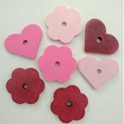 rože-srčki roza 28mm, 14kos