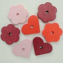 rože-srčki rdeče 28mm, 14kos