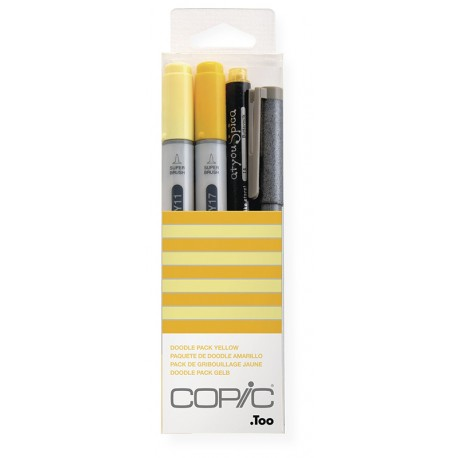 Copic Doodle Pack Yellow 4 kosi