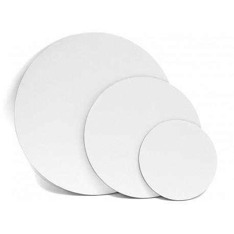Okroglo platno kaširano na karton
