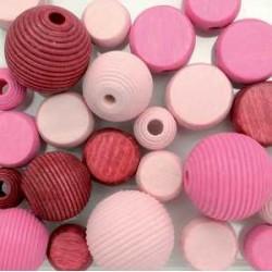 mešane roza 9-12mm 25kos