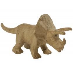 Papmache figura ES Dinozaver Triceratops 19x6x9cm