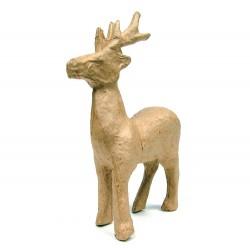Papmache figura ES Jelen 13x3,5x12cm