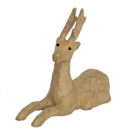 Papmache figura ES Jelen 13,5x5x11,6cm