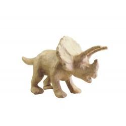 Papmache figura S 29x12x15,5cm Dinozaver Triceratops 19x6x9cm