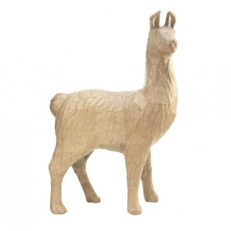 Papmache figura S Lama 14,5x5x22cm