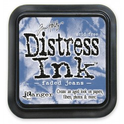 Tim Holtz Distress blazinica 5 x 5cm, Faded jeans