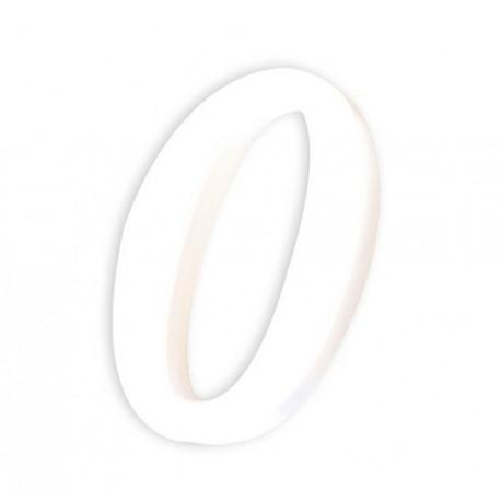 Številka iz kartona bela (0) 1,5x7,7x12cm