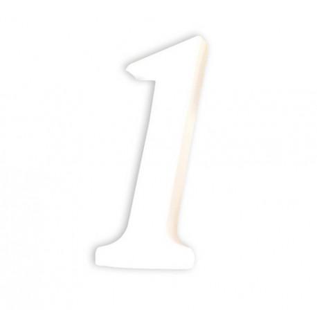 Številka iz kartona bela (1) 1,5x4,5x12cm