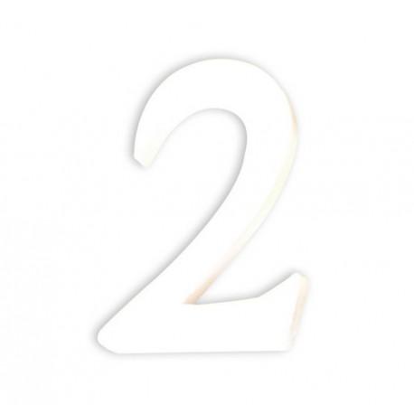 Številka iz kartona bela (2) 1,5x8x12cm