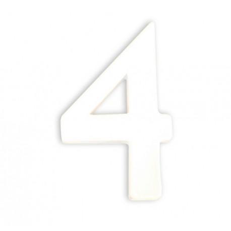 Številka iz kartona bela (4) 1,5x7,5x12cm