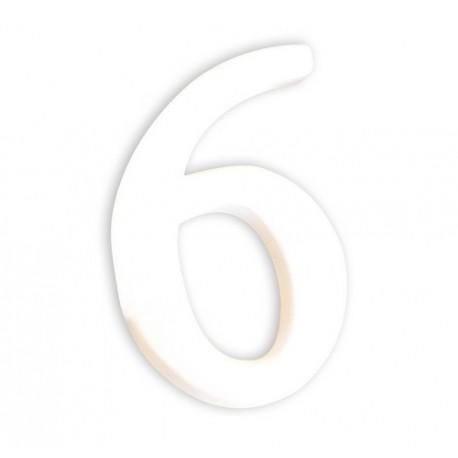 Številka iz kartona bela (5) 1,5x7x12cm