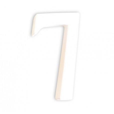 Številka iz kartona bela (7) 1,5x6x12cm