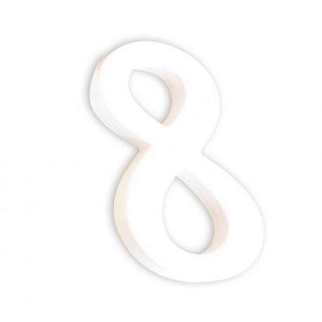 Številka iz kartona bela (8) 1,5x8x12cm