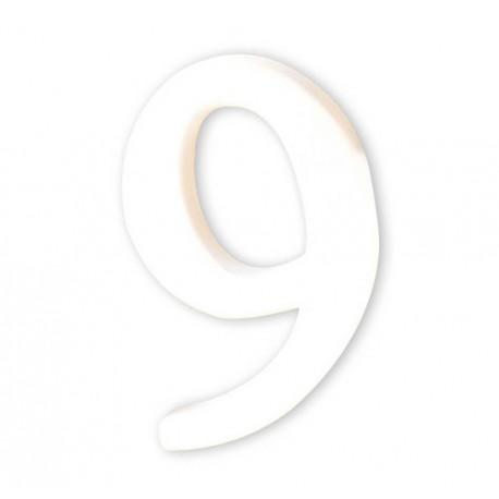 Številka iz kartona bela (9) 1,5x8x12cm