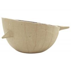 Papmache vodoodporna skodelica Ptič 11x9x5cm