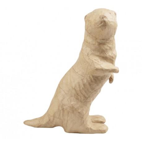 PAPMACHE figura S Vidra 7,5x15x19,5cm
