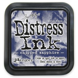 Tim Holtz Distress blazinica 5 x 5cm, Chipped Sapphire