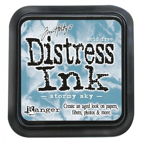 Tim Holtz Distress blazinica 5 x 5cm, Stormy Sky
