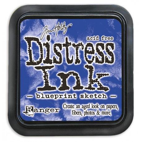 Tim Holtz Distress blazinica 5 x 5cm, Blueprint Sketch