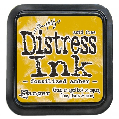 Tim Holtz Distress blazinica 5 x 5cm, Fossilized Amber