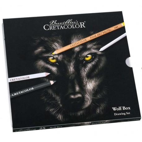 Cretacolor Wolf-volk komplet set 25