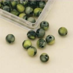 Marmorirane perle 8mm, zelene, 33 kos